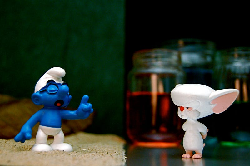 Illustration for article titled The Crossover We Never Knew We Wanted: Brainy Smurf Vs. The Brain