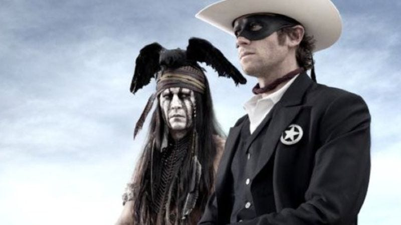 Illustration for article titled Johnny Depp now officially a Native American, meaning The Lone Ranger no longer has potential to be offensive