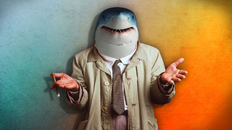 Illustration for article titled It's Sharklumbo, the shark that is also Columbo