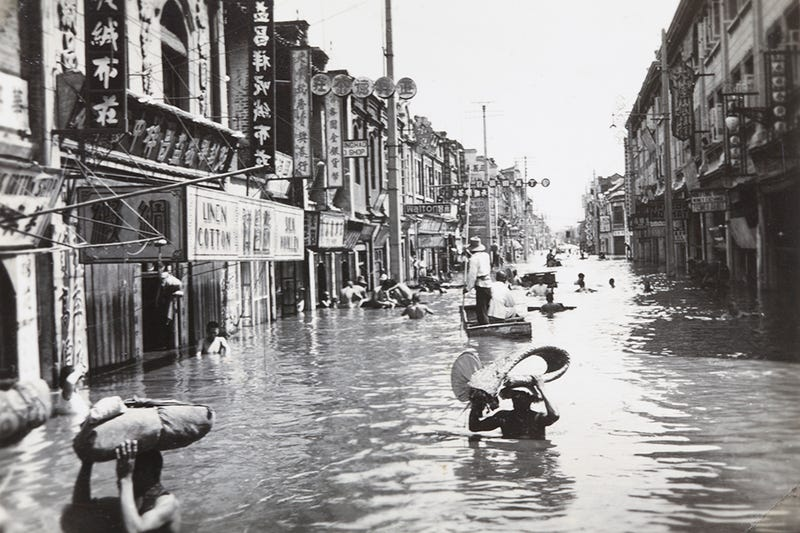 Illustration for article titled Cómo el desastre natural más mortífero de la historia convirtió una ciudad entera en una isla rodeada de cadáveres