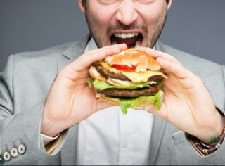 Illustration for article titled Study Explains Why Men Eat Like Disgusting Animals
