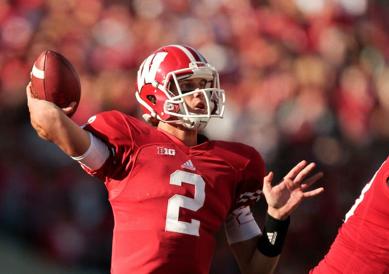 Illustration for article titled Wisconsin QB Doesn't Have An Injured Shoulder; He Has The Yips