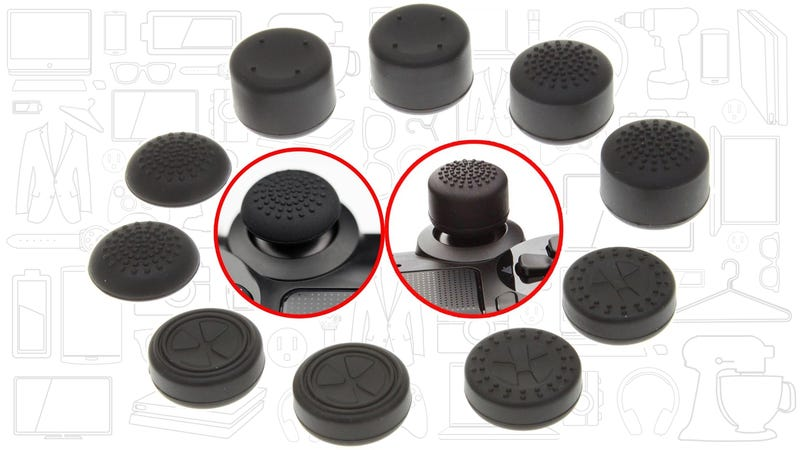 Illustration for article titled A DualShock 4 Thumb Grip Sampler Pack