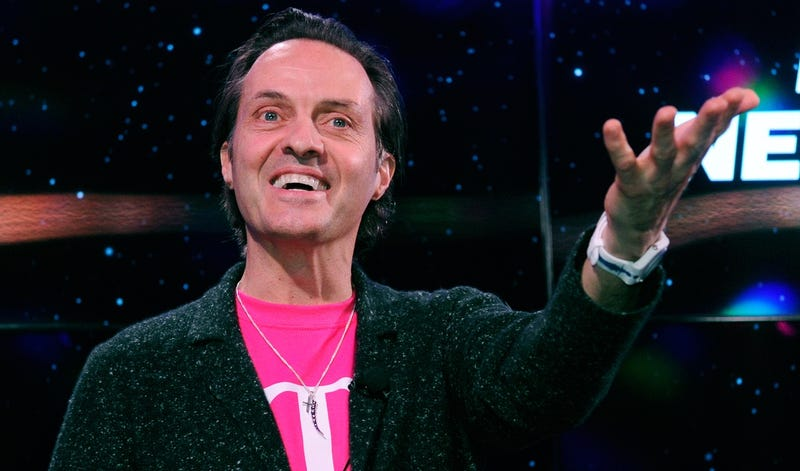 CEO of T-Mobile John Legere at CES in 2013 (Photo by David Becker/Getty Images)