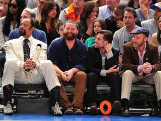 Illustration for article titled Here Is A Picture Of Zach Galifianakis Stoned At A Knicks Game