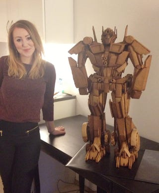 Illustration for article titled More than 700 pieces of gingerbread transformed into Optimus Prime