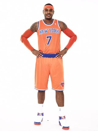 Illustration for article titled Here Are The New (Ridiculous) Creamsicle Orange Knicks Uniforms
