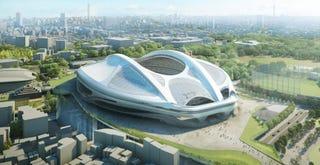 Illustration for article titled El rediseño del estadio olímpico de Tokio es más futurista que nunca