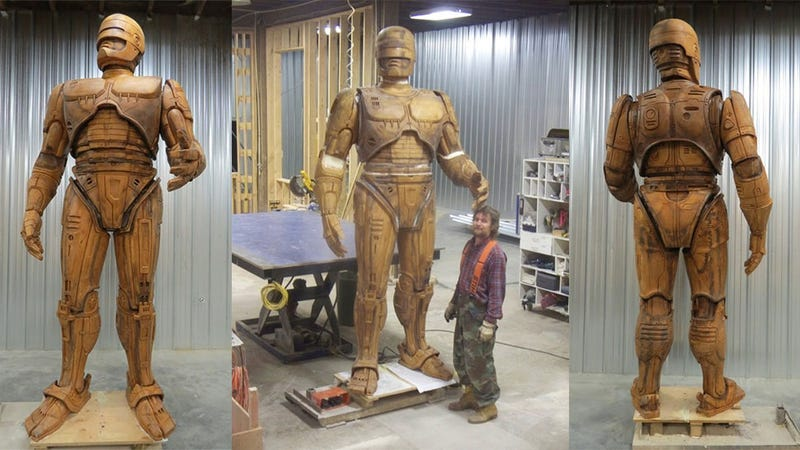 Illustration for article titled Detroit Really Is Getting A Giant Robocop Statue. Here's The Model.