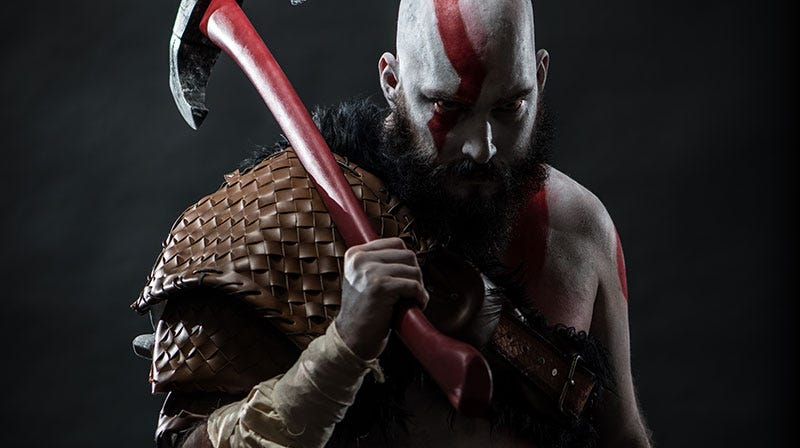 Illustration for article titled He Is Kratos, The Cosplay God Of War