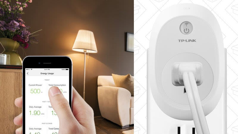 Enchufe inteligente TP-Link con control de consumo energético, $30
