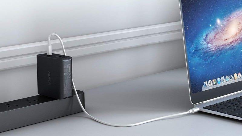 Aukey 46W USB-C PD Charger with 10.5W USB Port | $24 | Amazon | Promo code IX4QKCI2