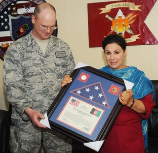 Illustration for article titled Afghan-American Woman Commended For Bravery In Afghanistan