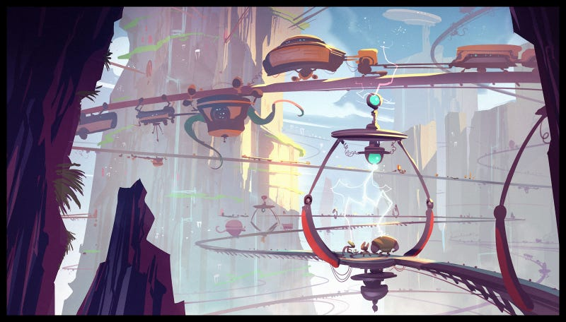 Illustration for article titled The Breathtaking Concept Art of Ratchet & Clank: All 4 One