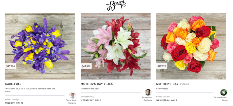 50% off select bouquets for first time customers   Bouqs   Use code IGMDAY50