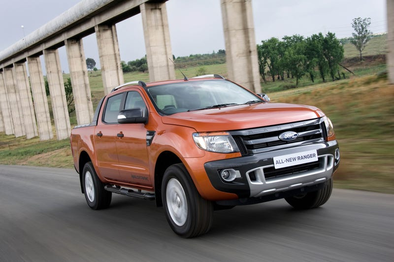 The 2011 Ford Ranger, discontinued the next year. Image via Ford