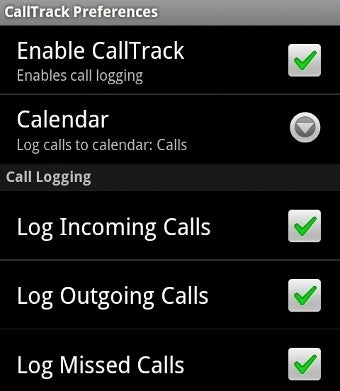 Illustration for article titled CallTrack Android App Lists All Calls On A Google Calendar