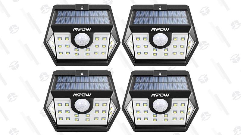 Four-Pack Mpow Solar LED Motion Lights | $29 | Amazon | Promo code 7I8NB7HG