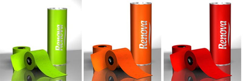 Renova Black Toilet Paper Now Comes In Green Orange And Red