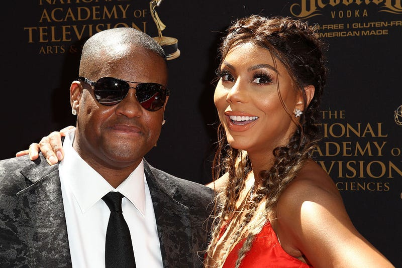 Vincent Herbert and Tamar Braxton attend the 2016 Daytime Emmy Awards at the Westin Bonaventure Hotel on May 1, 2016, in Los Angeles.Leon Bennett/WireImage