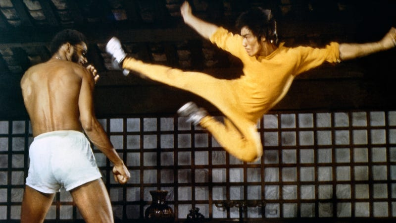 Abdul-Jabbar and Lee, filming together on Game Of Death