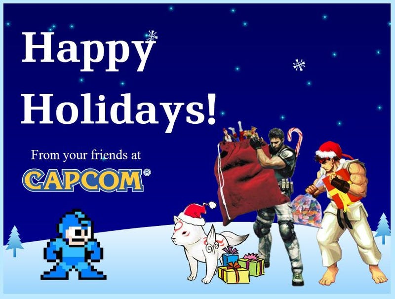 Illustration for article titled Happy Holidays from Megaman and Capcom