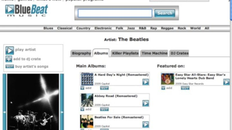 Illustration for article titled EMI sues website selling 25-cent Beatles MP3s
