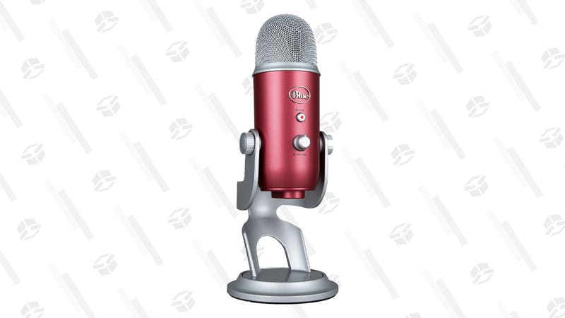 Blue Yeti USB Microphone, Steel Red | $75 | BuyDIg | Promo code MICD