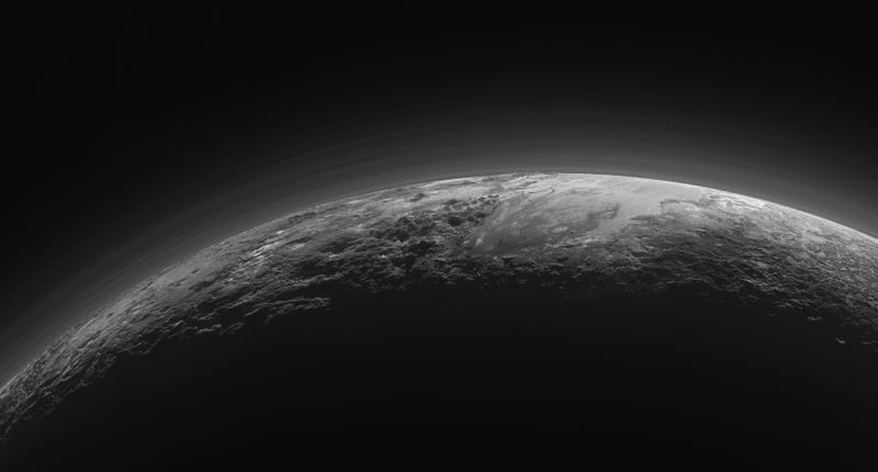 Plutonian landscapes in twilight. Image: NASA/JHU APL/SwRI