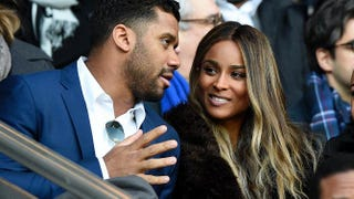 Russell Wilson and CiaraFRANCK FIFE/AFP/Getty Images