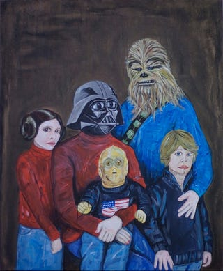 Illustration for article titled This Star Wars Family Portrait Is A Sweater Party