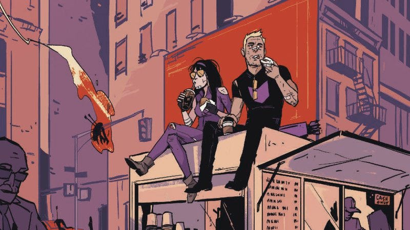 Illustration for article titled Exclusive Marvel preview: Past and present intertwine in All-New Hawkeye #3