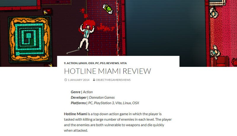Illustration for article titled Finally, An Objective Game Review Site