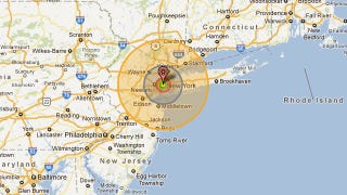 Illustration for article titled Nukemap allows you to drop famous bombs all over Google Maps