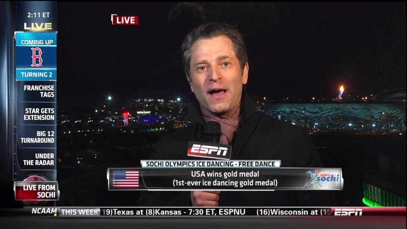 Illustration for article titled Jeremy Schaap's Report From Sochi Was A Big Fat FRAUD