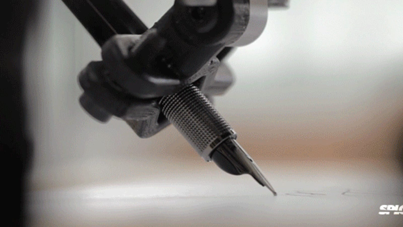 Calligraphic robot imitates your handwriting using a fountain pen