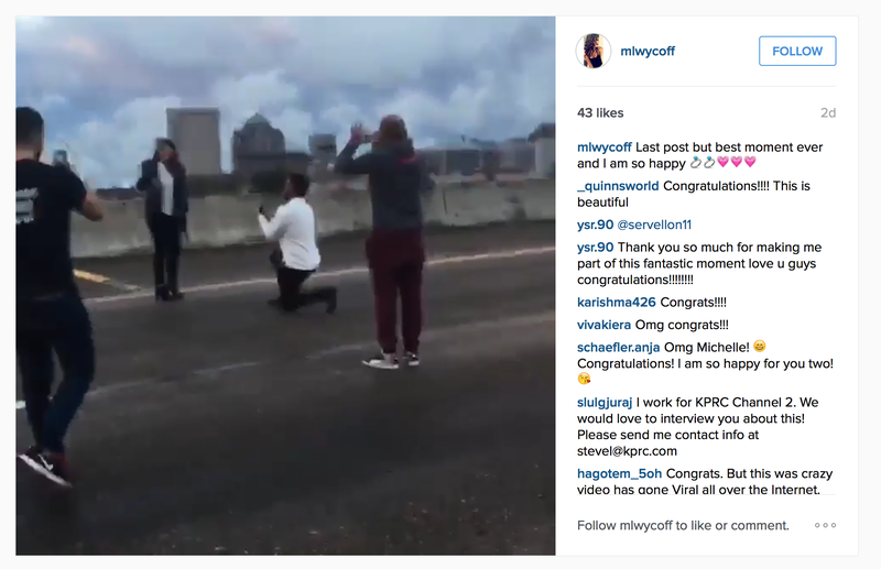 Illustration for article titled Texas Moron Shuts Down Busy Houston Freeway To Propose, Faces Misdemeanor Charge