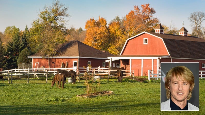 Owen Wilson and a farm.