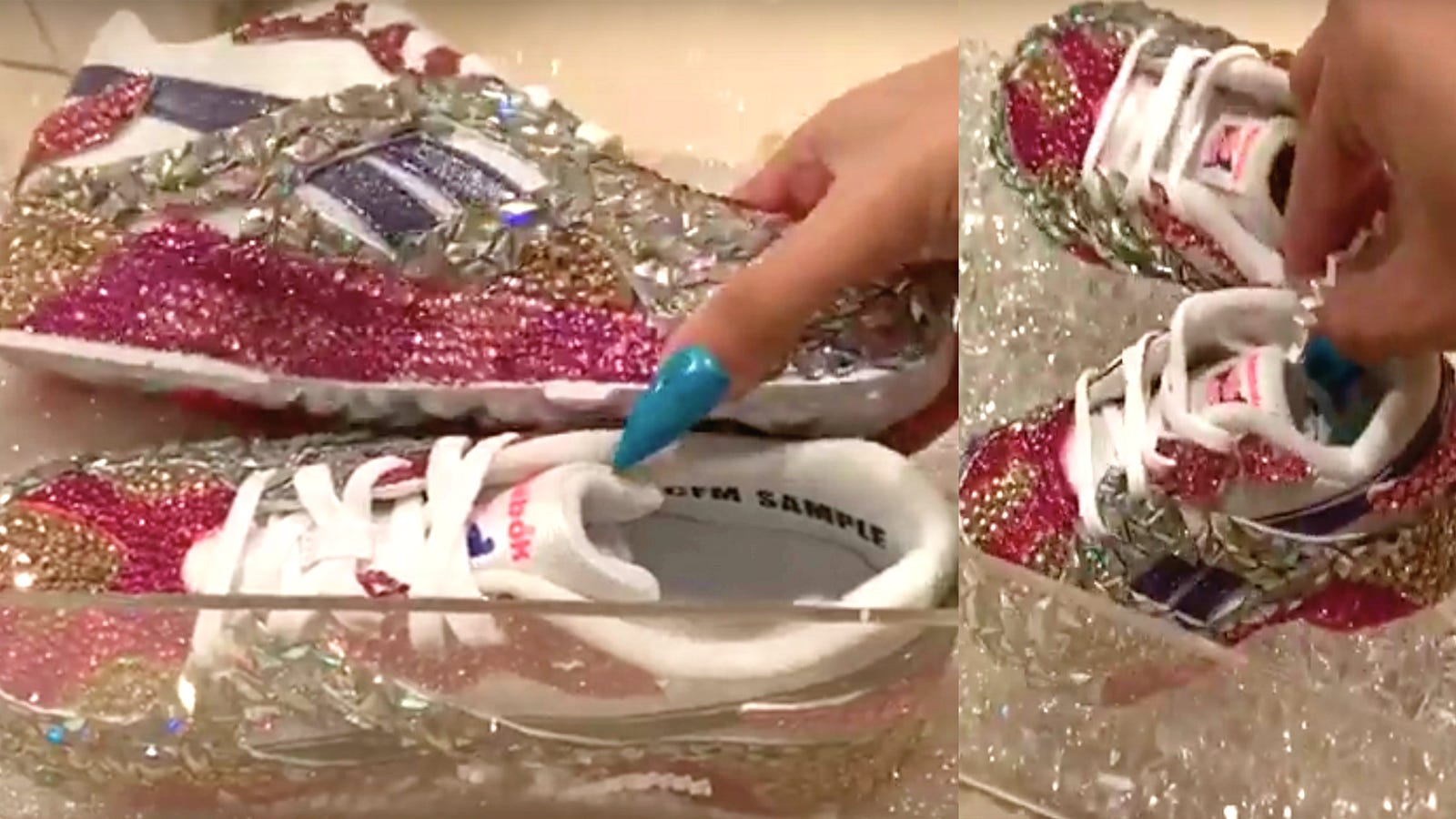 Cardi B and Kulture Score Some  Mommy and Me  Bling from Reebok 333ab582de
