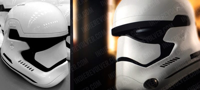 The new stormtrooper helmets for Star Wars Episode VII