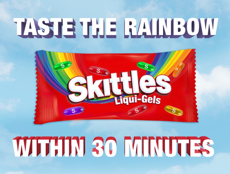 Illustration for article titled Skittles Unveils New Liqui-Gels For Fast-Acting Fruity Flavor