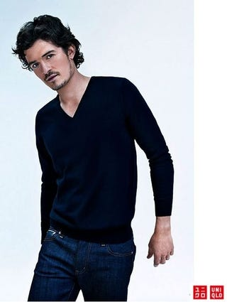 Illustration for article titled Orlando Bloom And Charlize Theron Shill For Cheap Cashmere Blends