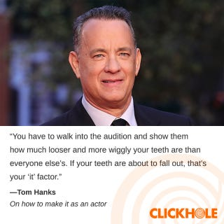 Illustration for article titled Tom Hanks Said WHAT?!