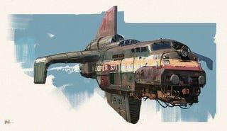 Illustration for article titled Trainplane.