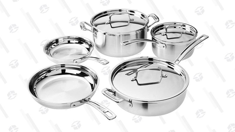Cuisinart Mutliclad Pro 8-Piece Cookware Set | $130 | Amazon