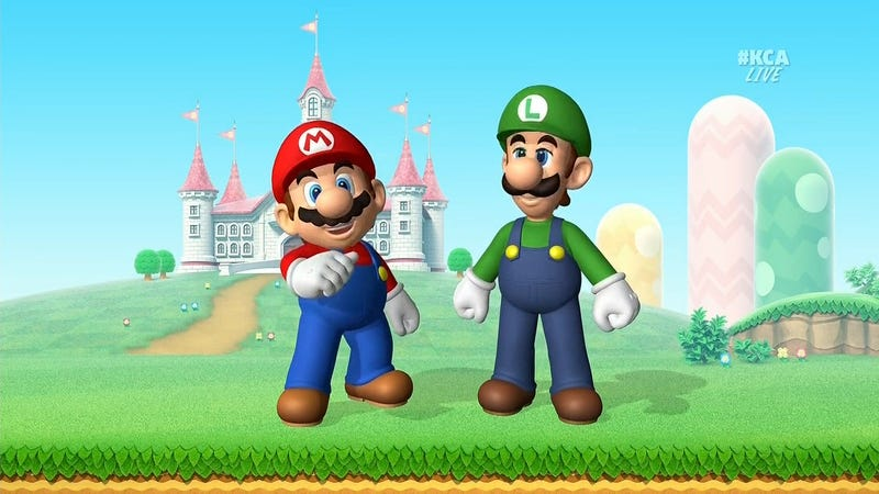Illustration for article titled Mario And Luigi At The 2016 Kids' Choice Awards