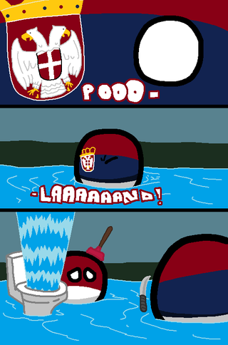 Illustration for article titled Daily Polandball: Serbian Floods