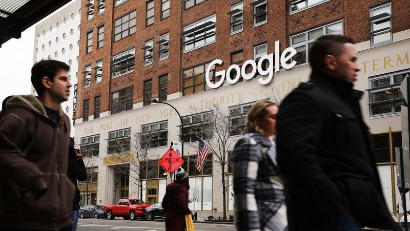 Google's New York office is shown in lower Manhattan.