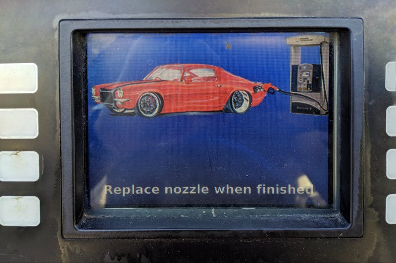 Illustration for article titled Hey gas pump, sweet Camaro you got there bro