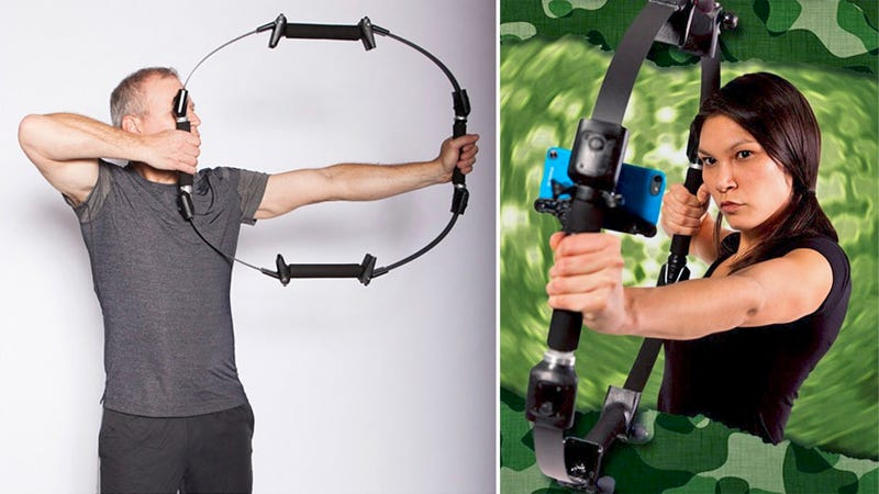 Illustration for article titled Smartphone Bow Turns Your Handset Into an Archery Simulator